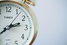 An image of a clock for those who need to make time to volunteer